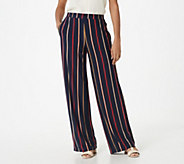 Susan Graver Regular Printed Liquid Knit Pull-On Pants - A350179