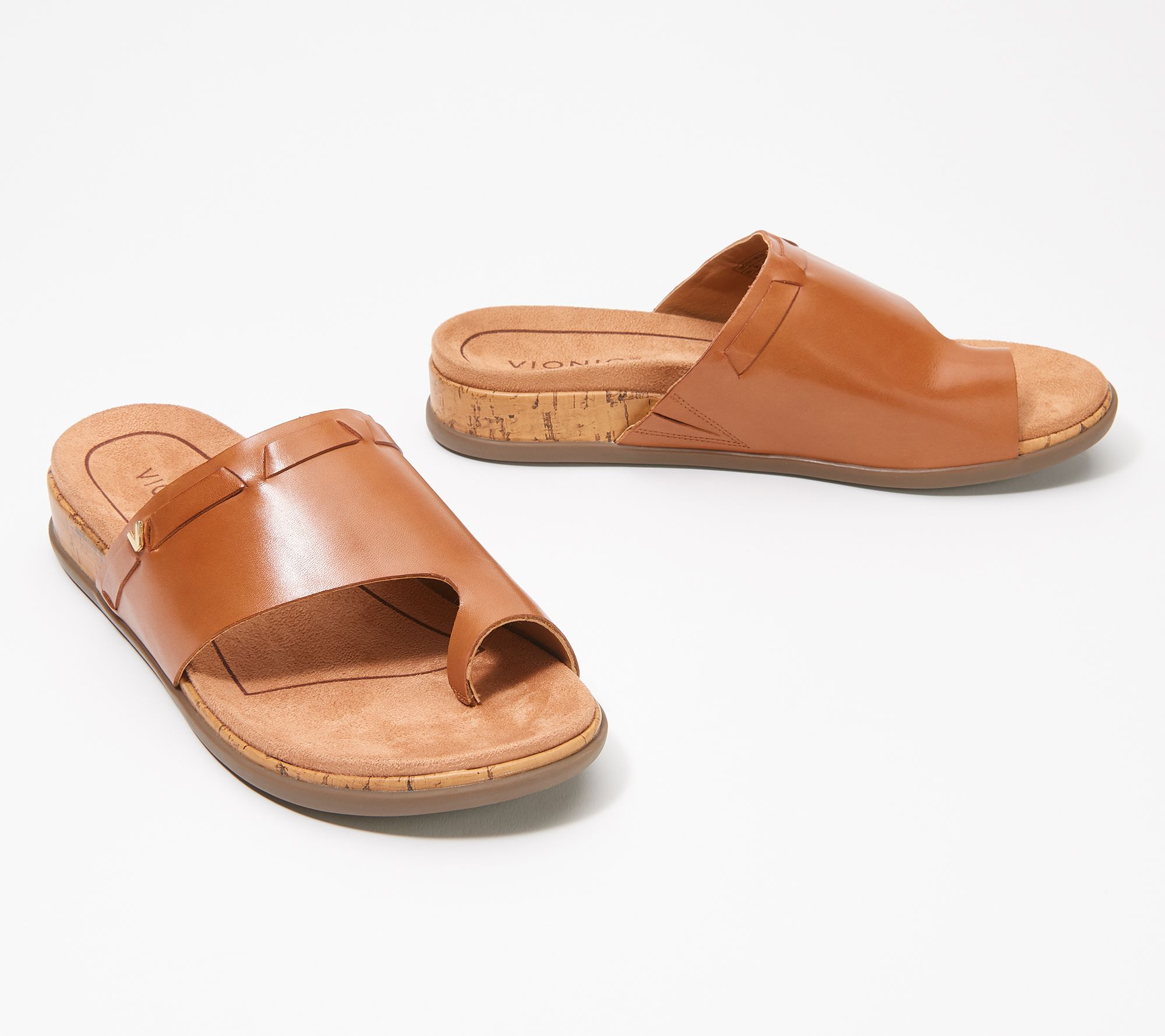 Ladies Leather Collection Y Strap Toe Loop Sandals