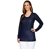 Kelly by Clinton Kelly Double Layer Top with Baby Chain Detail - A266480