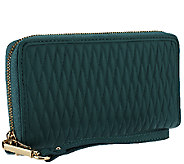As Is Isaac Mizrahi Live! Bridgehampton Quilted Lamb Leather Wallet - A267180