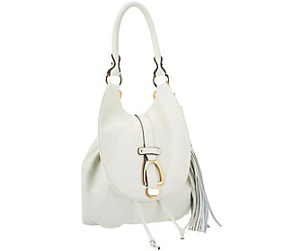 G.I.L.I Leather Convertible Backpack - Ivory/Winter White