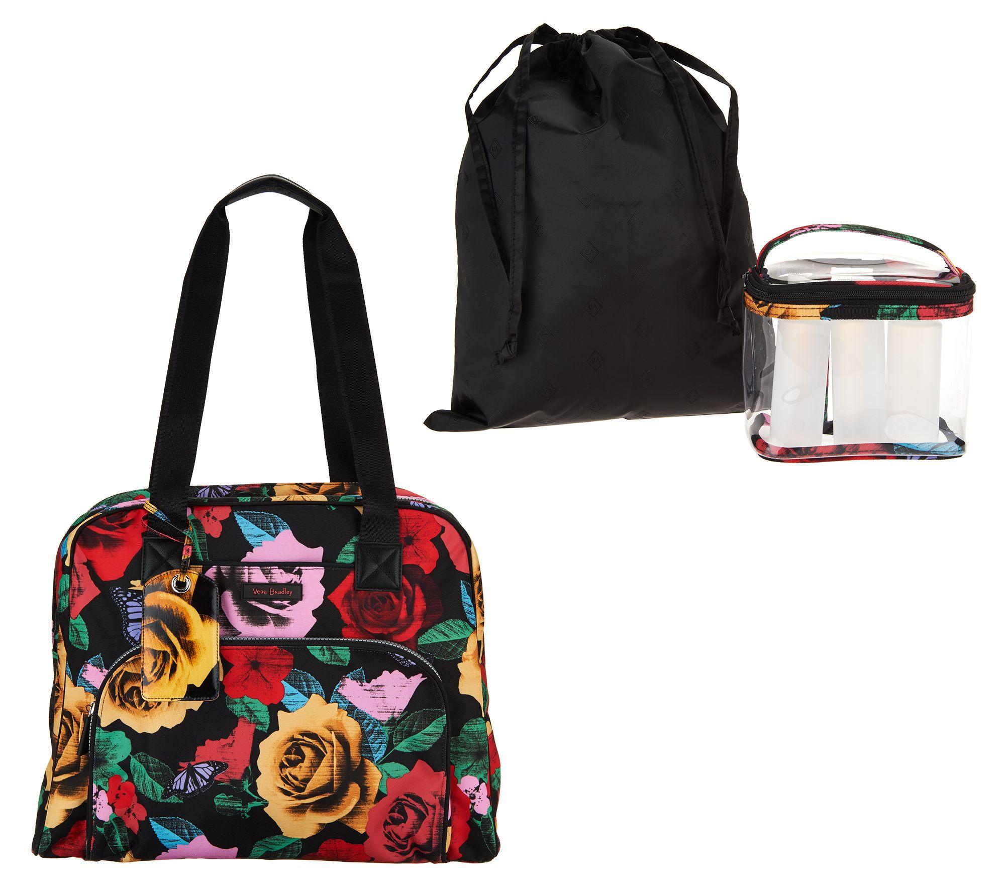 Vera Bradley Travel Bag w  3-1-1 Cosmetic Bag - Page 1 — QVC.com e14e6f561c3c8