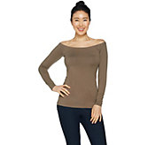G.I.L.I. Long Sleeve Off-the- Shoulder Top - A292980