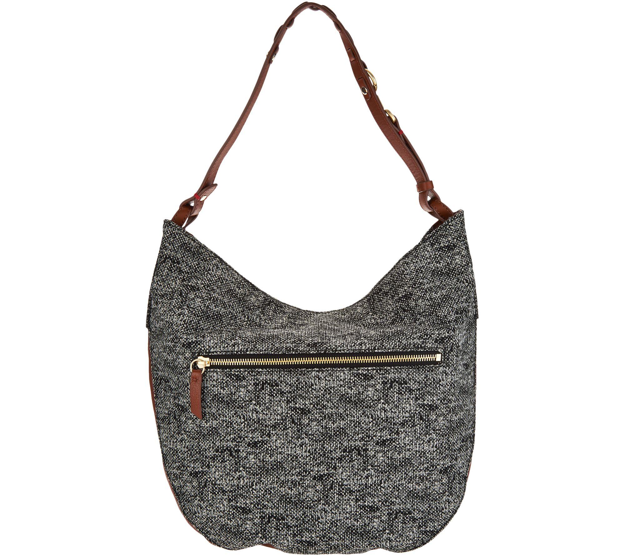 2ca1f9001c ED Ellen DeGeneres Leather Brea Hobo Handbag - Page 1 — QVC.com