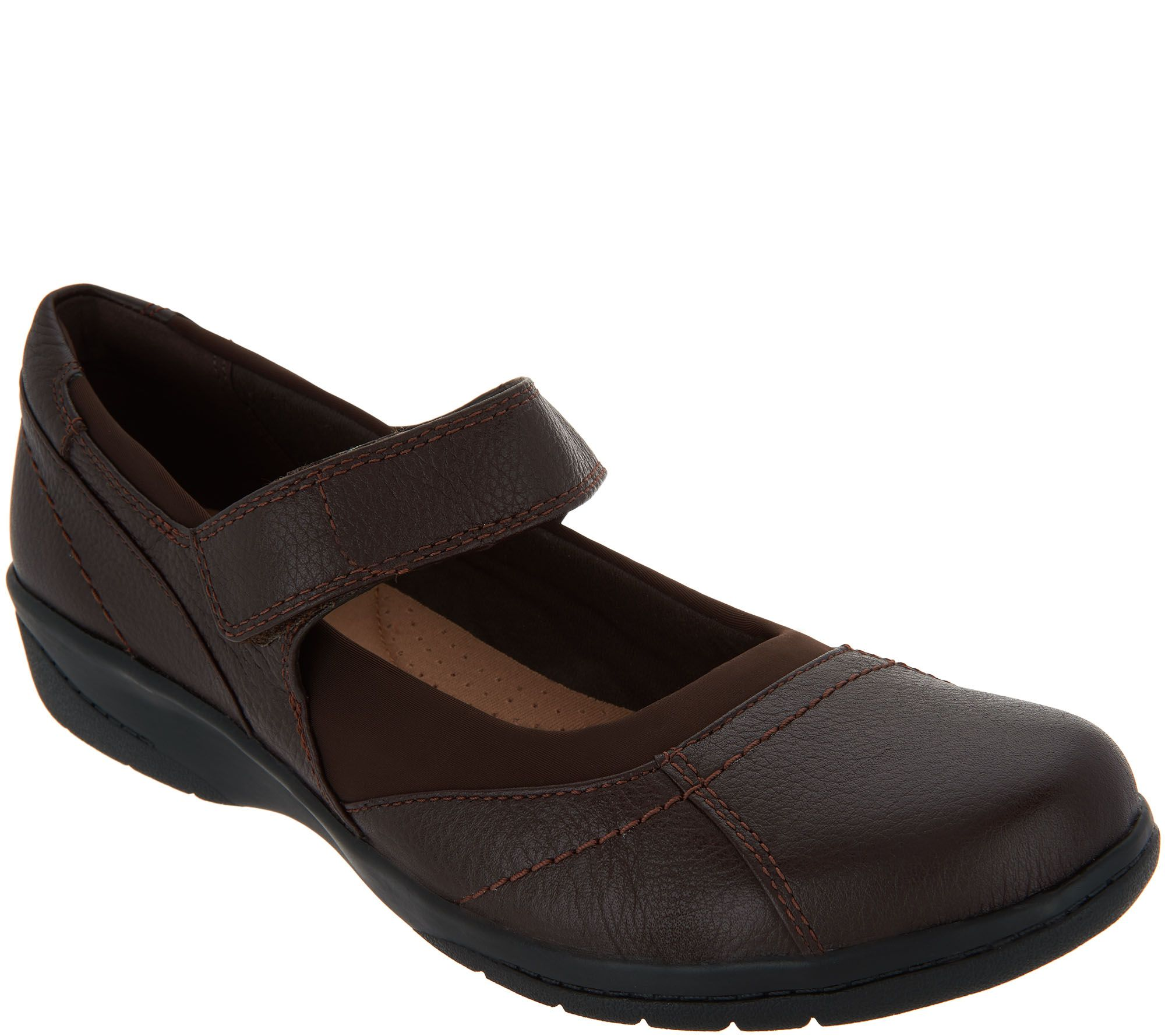 Clarks Tumbled Leather Adjustable Mary Janes - Cheyn Web clearance for sale BmECPUI1id