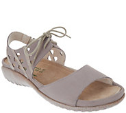 Naot Leather Lace Up Sandals - Mangere - A303480