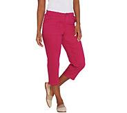 Susan Graver Regular Stretch Twill Capris Jeans - A304080