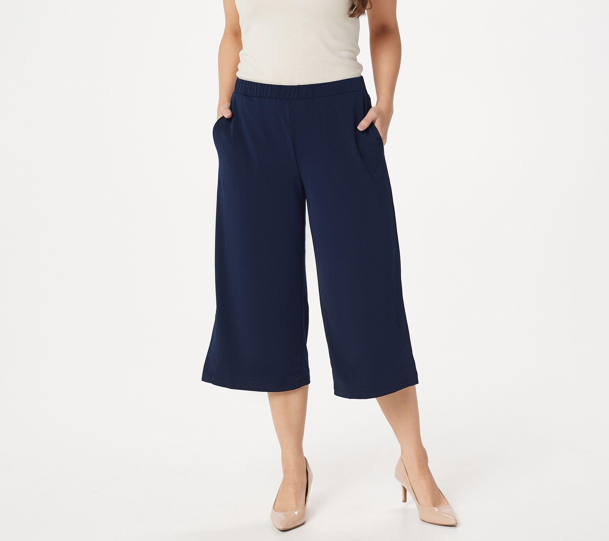7f44f8170ab6 Susan Graver Liquid Knit Pull-On Wide Leg Crop Pants - Page 1 — QVC.com