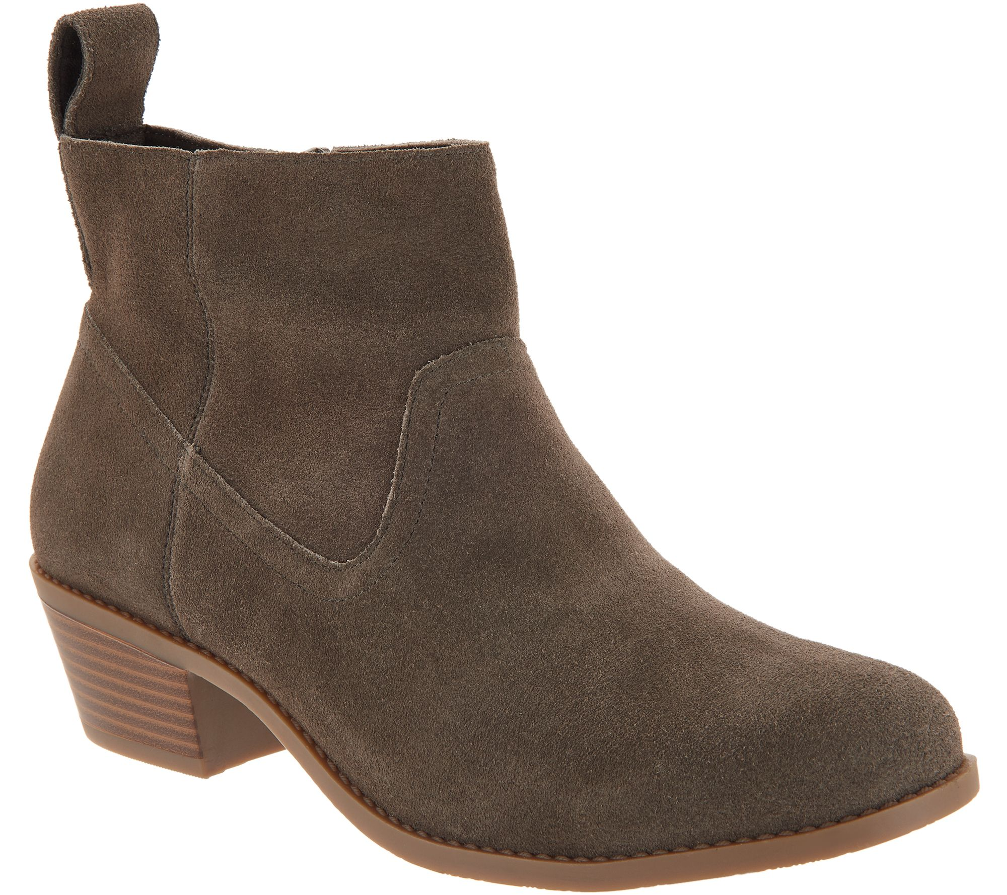 67a787a82f73 Vionic Water-Resistant Suede Ankle Boots - Vera - Page 1 — QVC.com