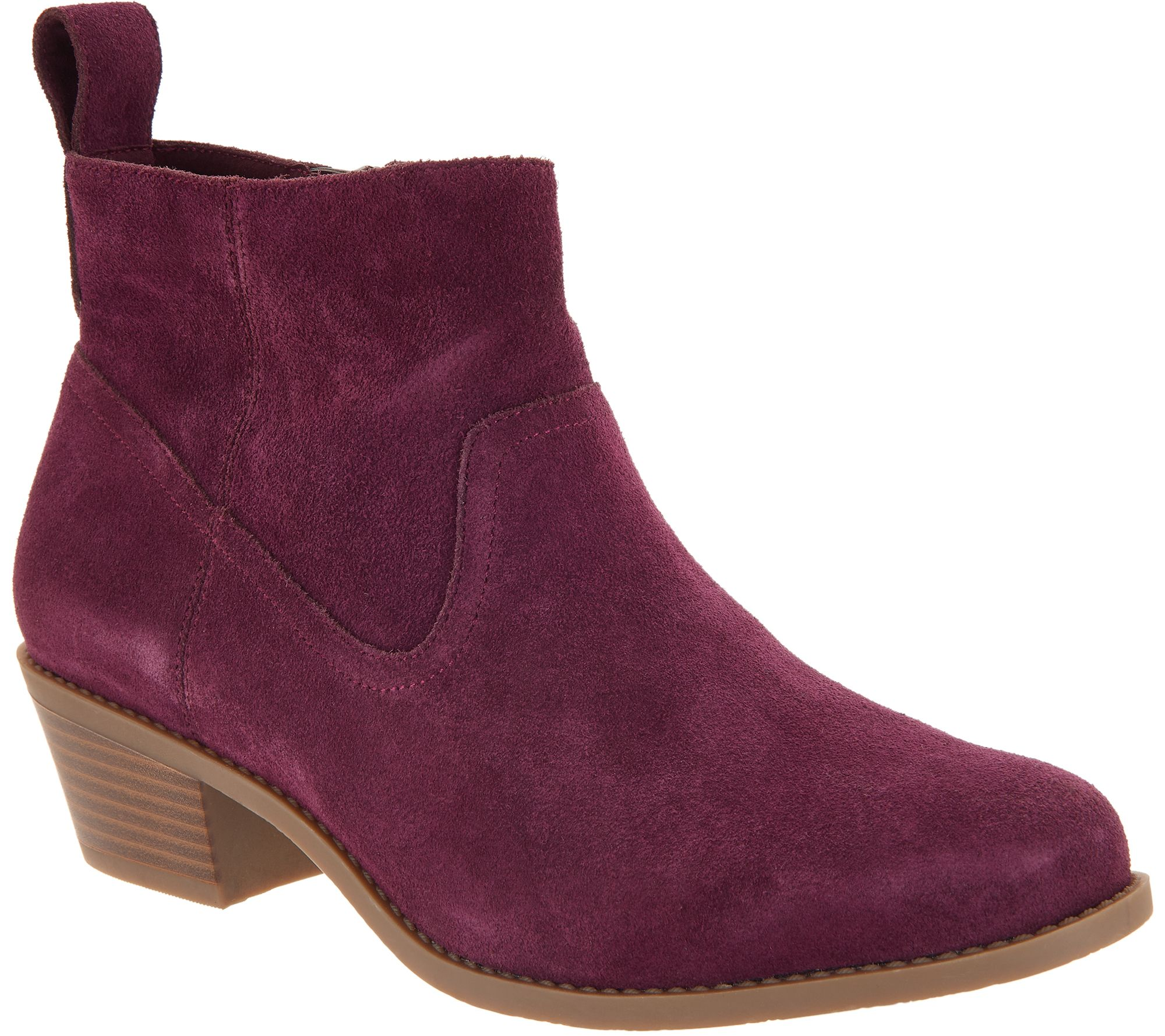 6b249486df5 Vionic Water-Resistant Suede Ankle Boots - Vera - Page 1 — QVC.com