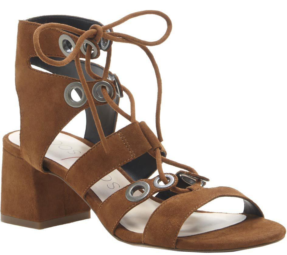 8b10d5a78345d5 Sole Society Block Heel Leather Sandals - Rosemary — QVC.com
