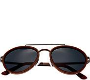 Breed Gemini Brown Titanium Sunglasses w/ Polarized Lenses - A361280