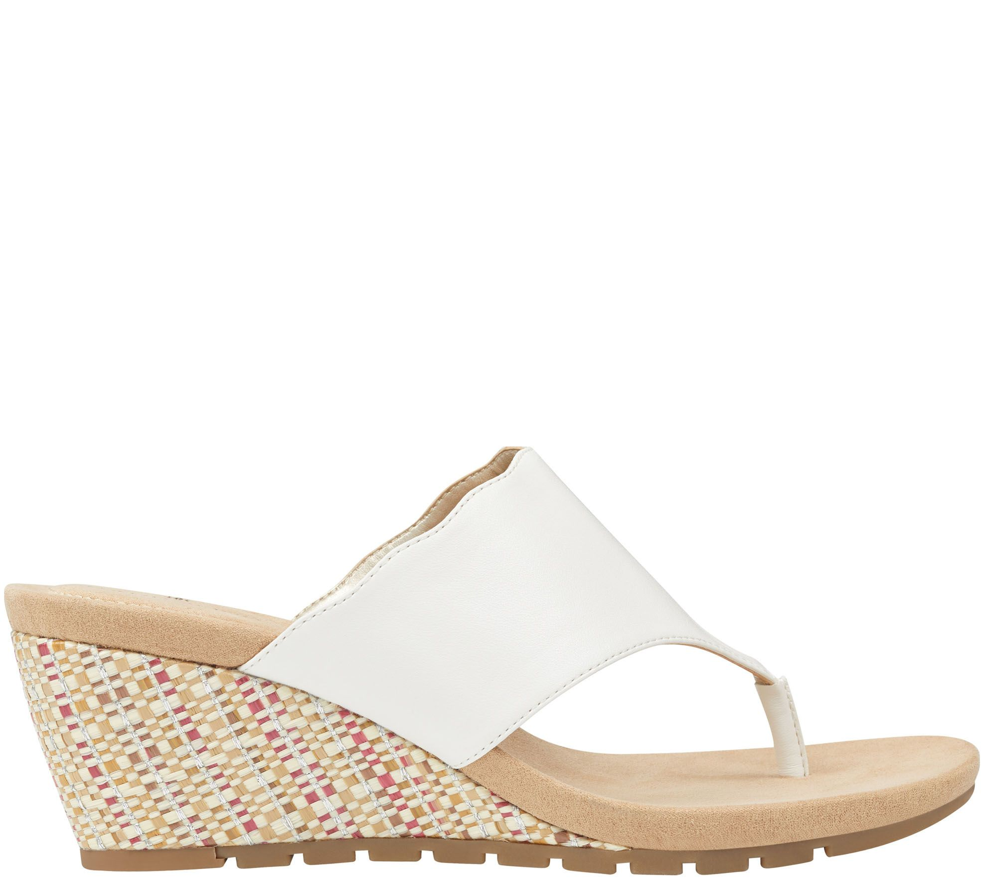 41742bf190e6 Bandolino Casual Wedge Sandals - Sarita — QVC.com