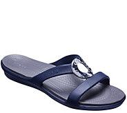 Crocs Slide Sandals - Sanrah Hammered Metal - A413180