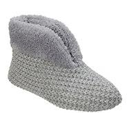 Dearfoams Textured Knit Slipper Booties - A418080