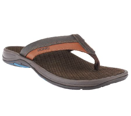 e2b3419e34c Vionic w  Orthaheel Men s Orthotic Thong Sandals - Joel - Page 1 — QVC.com