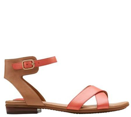 a9f83517f Clarks Artisan Sandals w  Adjustable Ankle Strap - Viveca Zeal - Page 1 —  QVC.com