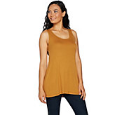 LOGO Layers by Lori Goldstein Rib Knit Straight Hem Tank - A276781