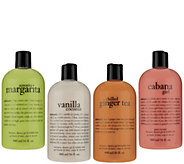 philosophy sweet & creamy 4 piece shower gel collection - A279381