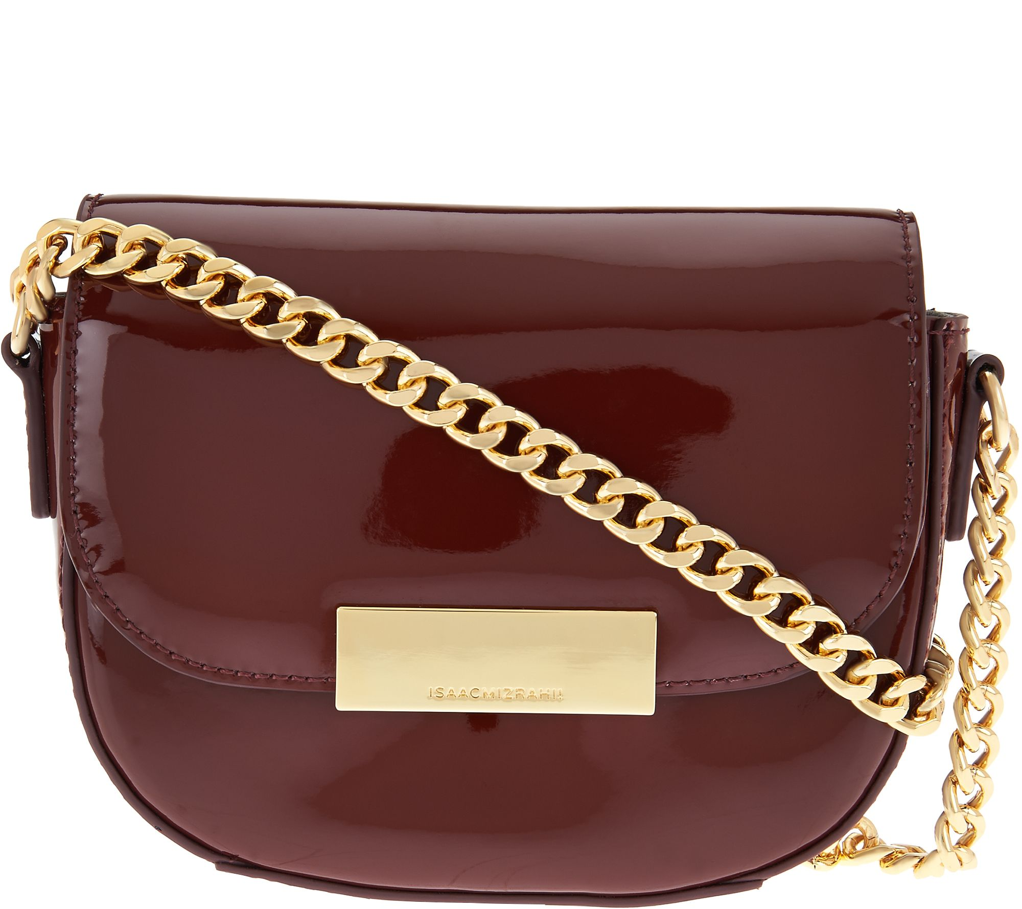 Patent Leather Chain Strap Small Handbag Page 1 Qvc