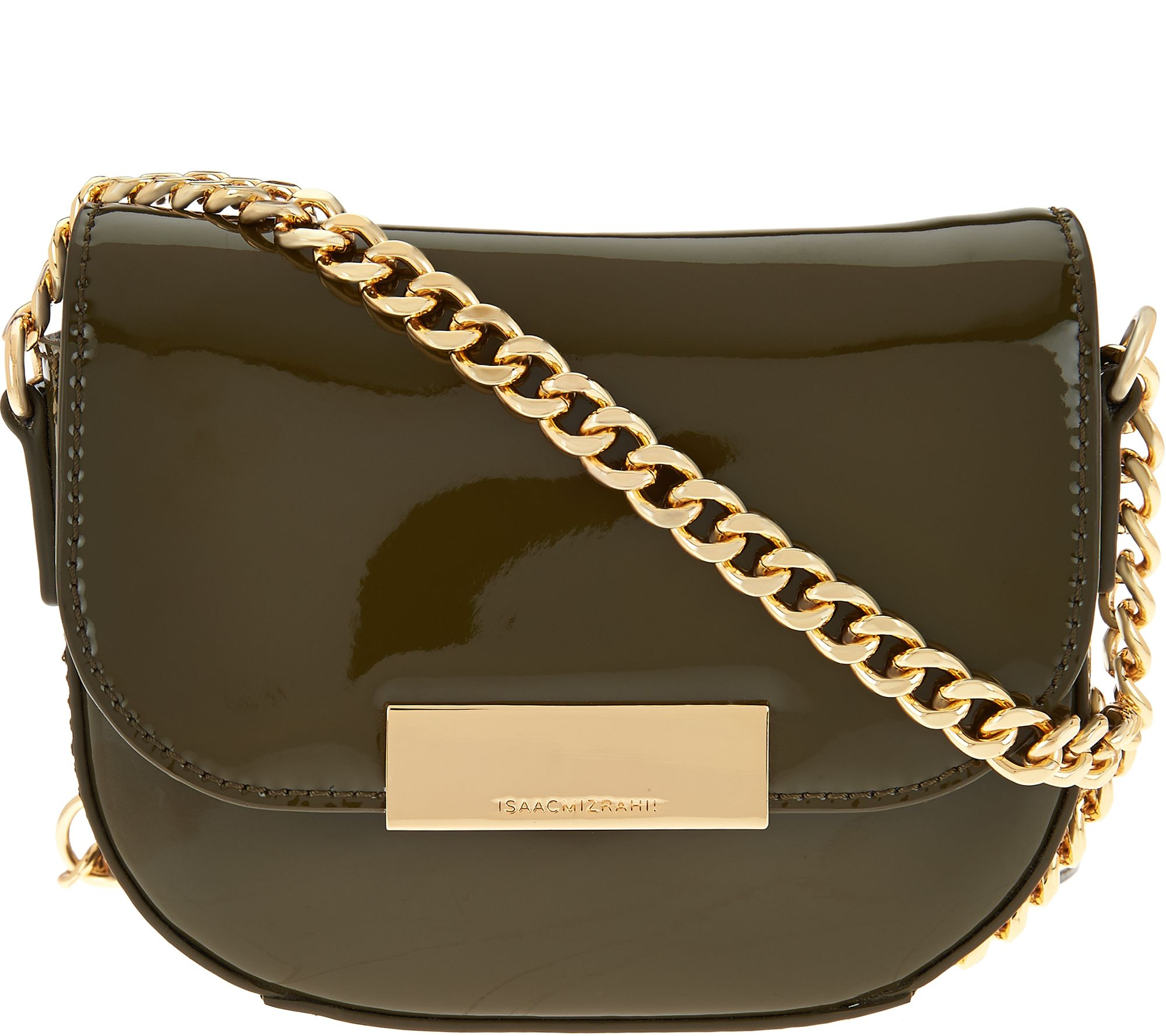 0a45bd435184 Isaac Mizrahi Live! Patent Leather Chain Strap Small Handbag - Page ...