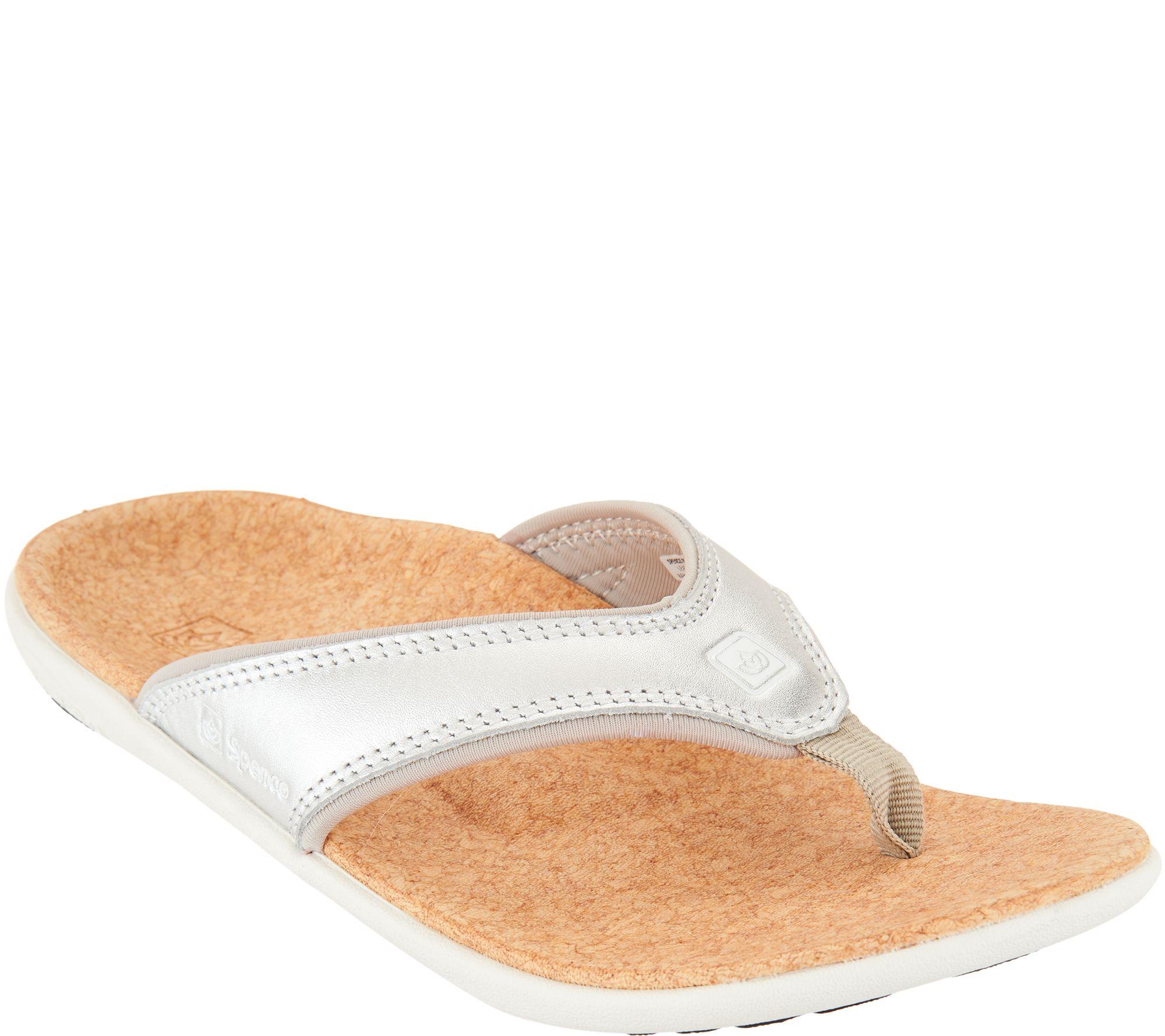 Spenco Women/'s Yumi Metallic Total Support Sandals Multiple Sizes Gold