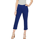 C. Wonder Regular Stretch Knit Twill Pull-On Crop Pants - A289781