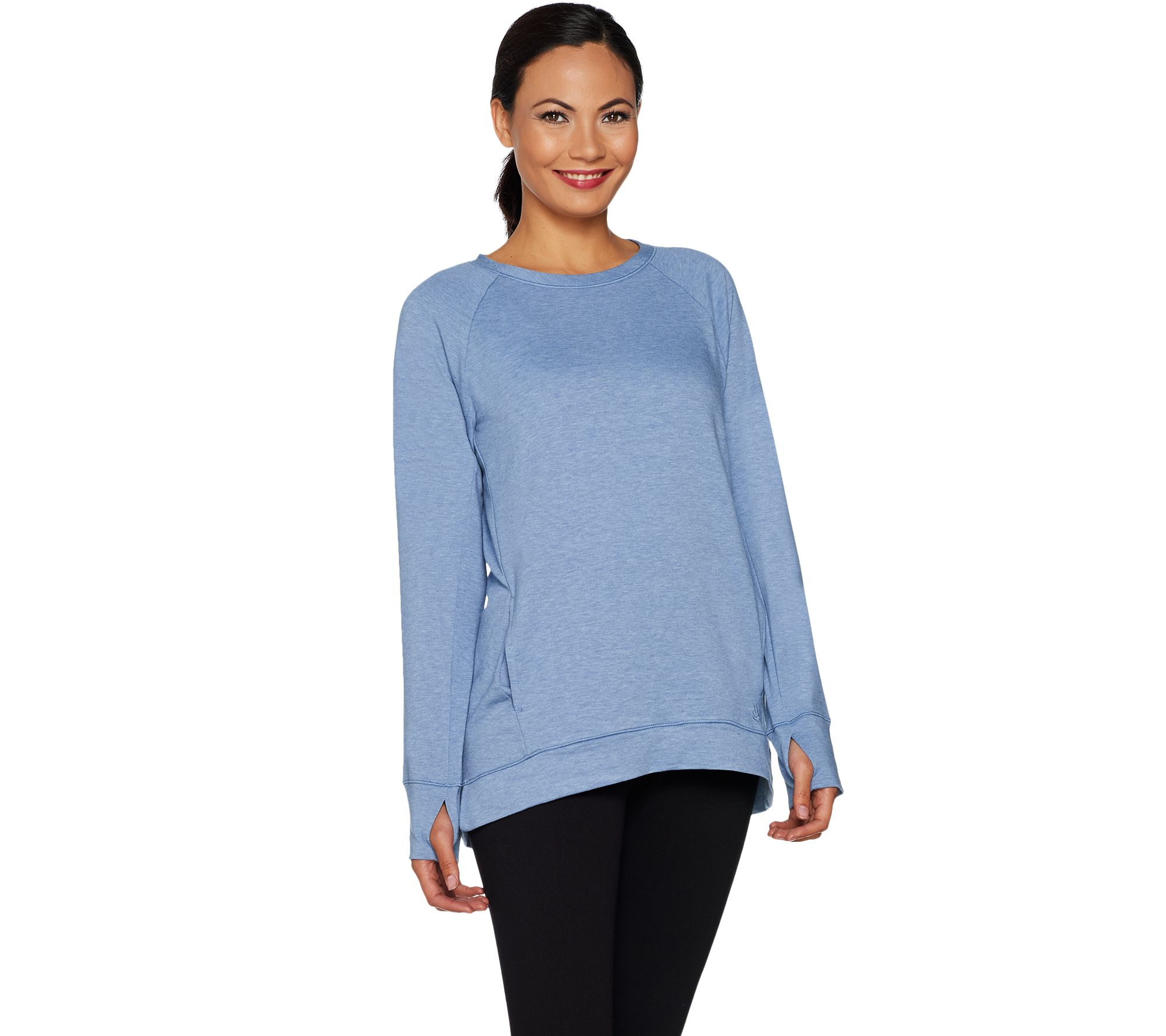 6692b35f4e4c3 Cuddl Duds Comfortwear French Terry Raglan Sleeve Pullover Top - Page 1 —  QVC.com