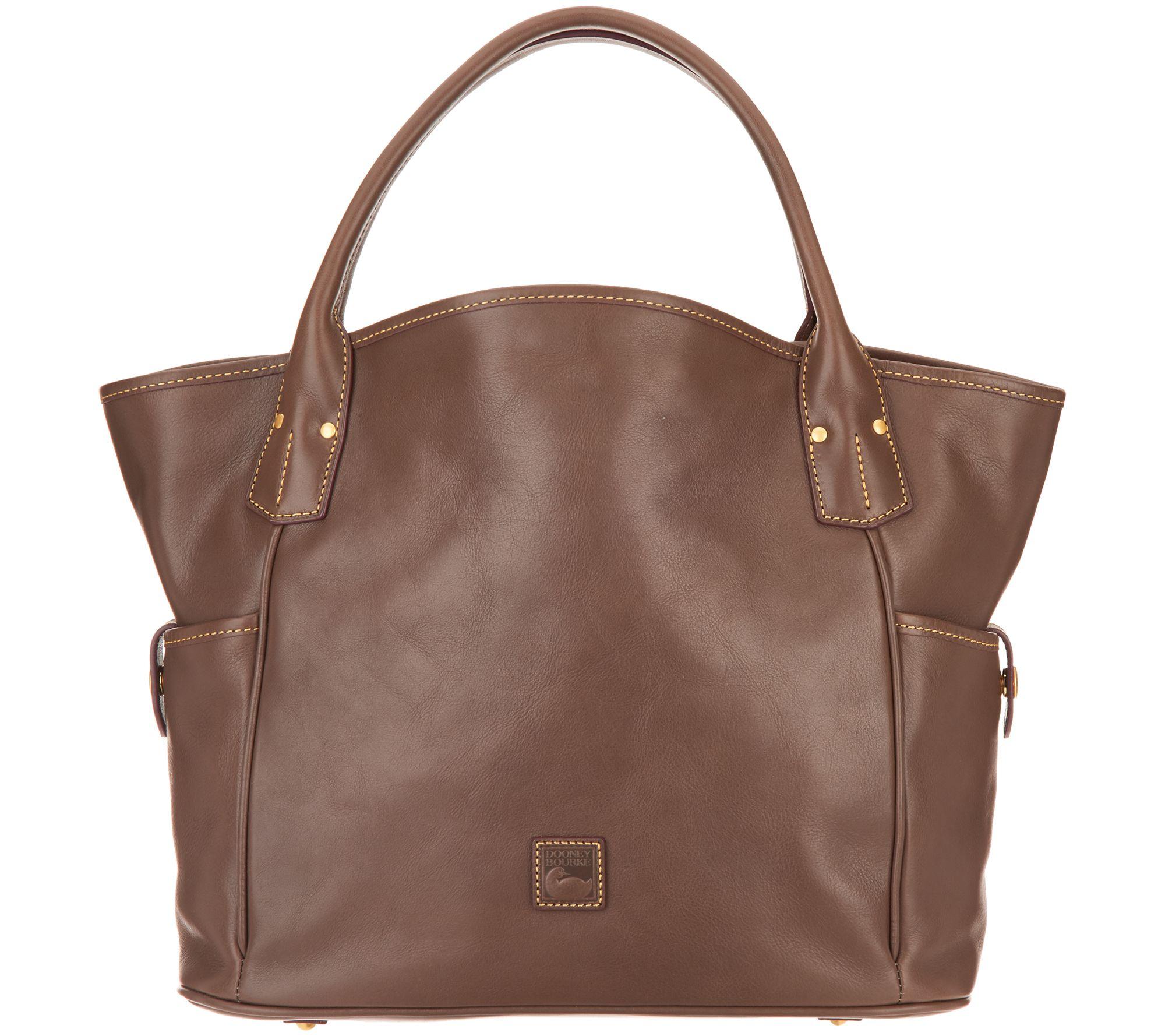 e2db94d48fc Dooney   Bourke Florentine Leather Kristen Tote - Page 1 — QVC.com