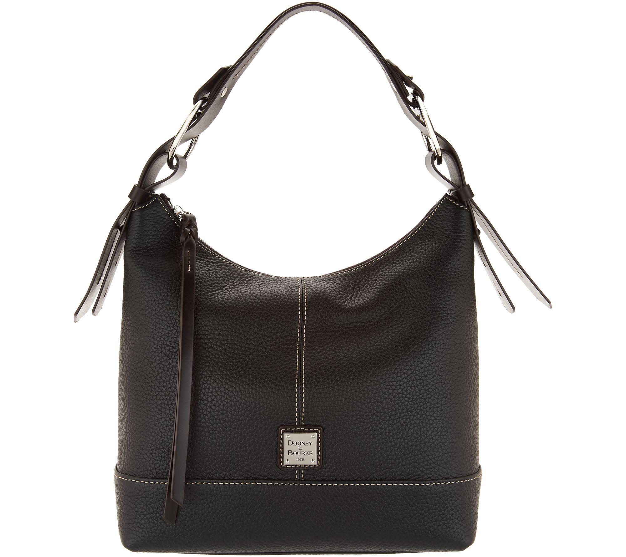 44c1b6e073f2 Dooney   Bourke Pebble Leather Hobo Handbag- Gracie - Page 1 — QVC.com