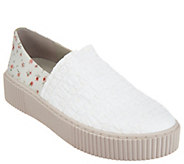 Lori Goldstein Collection Slip-On Sneaker with Smocking - A302881