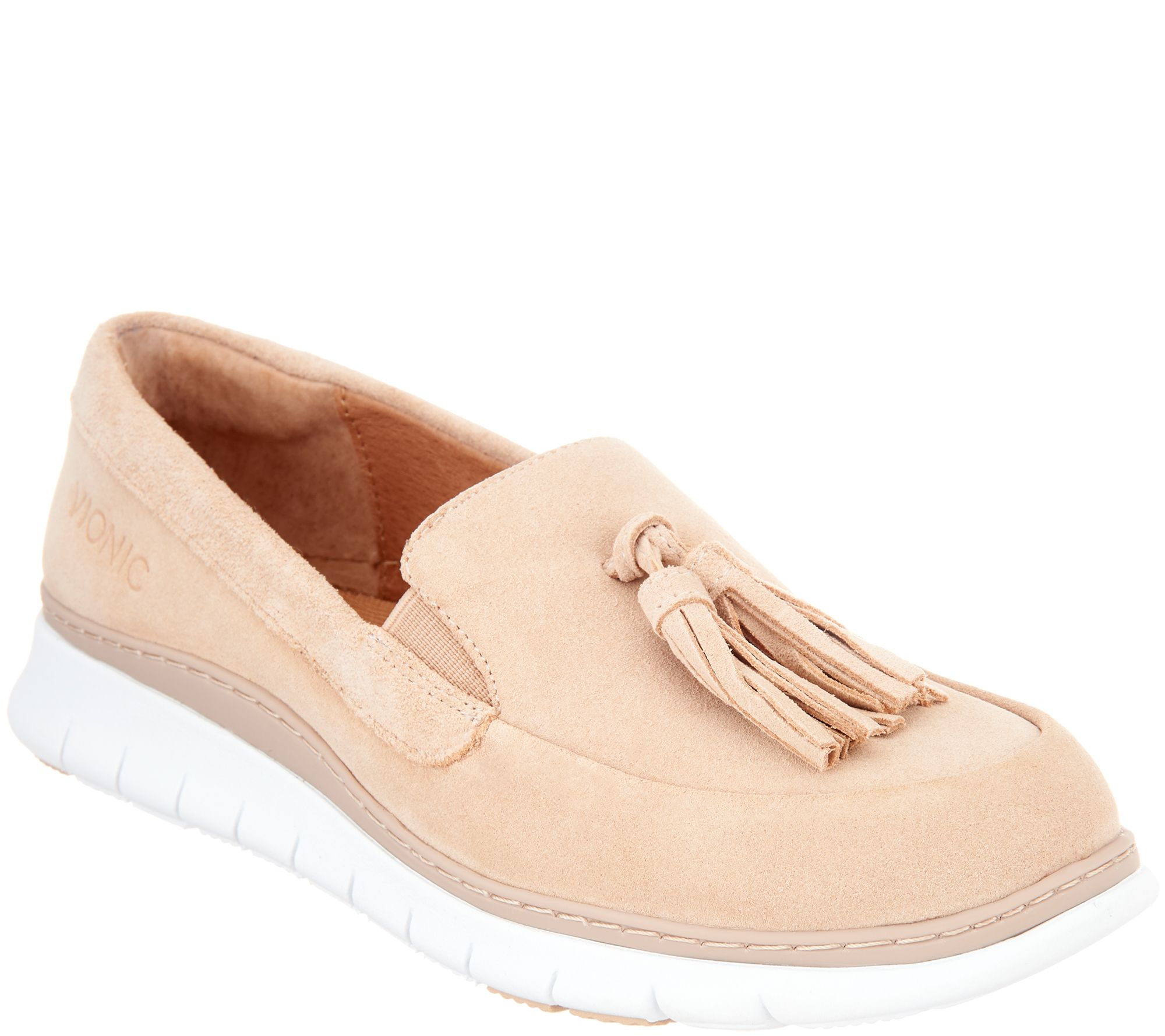 4150f034e26 Vionic Suede Slip-On Shoes with Tassels - Quinn - Page 1 — QVC.com
