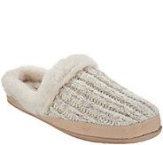 Skechers Sweater Knit Faux Fur Slippers - Beach Bonfire - A309881