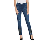 Women with Control My Wonder Denim Petite Sequin Ankle Jeans - A344081