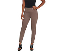 H by Halston Regular Stretch Twill Ankle Length Pull-On Pants - A345581