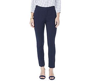 NYDJ Ponte Ankle Pants with SeamingDetail