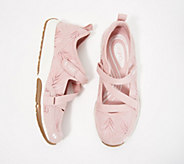 Ryka Adjustable Mesh Mary Jane Sneakers - Kailee Palm - A348981