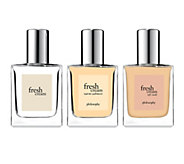 philosophy fresh cream, warm cashmere & soft suede edt trio - A351481