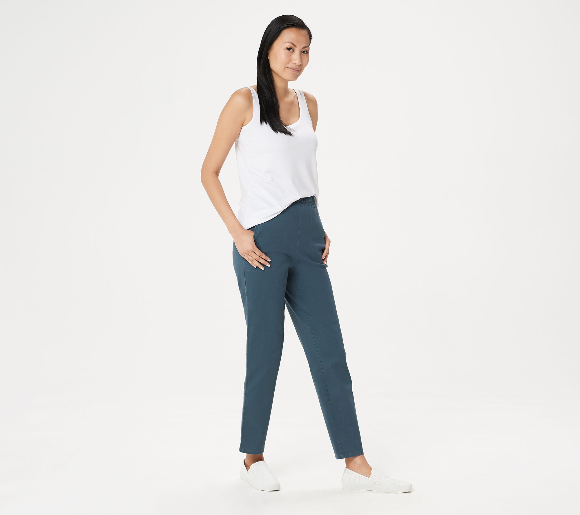 591f54dfd5fb Original Waist Stretch Petite Pants with Side Pockets - Page 1 — QVC.com