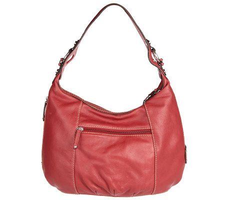 d389e8ef86 Tignanello Glove Leather Single Strap Zip Top Hobo Bag - Page 1 — QVC.com