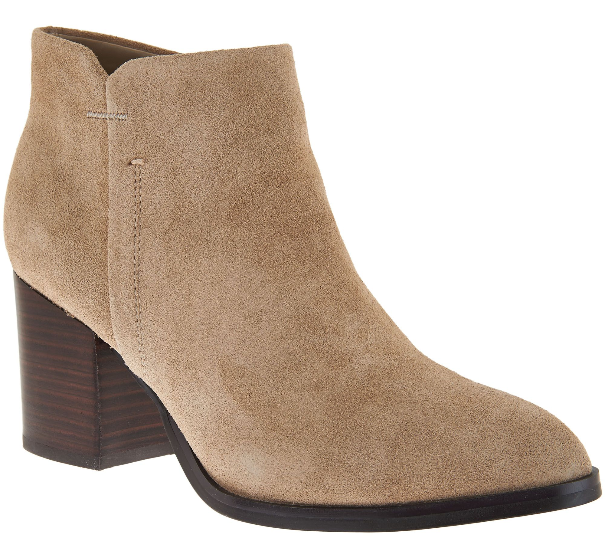 Marc Fisher Suede Block Heel Ankle Boots - Vandra - Page 1 ...