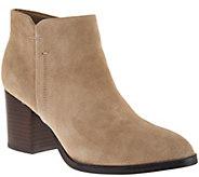 Marc Fisher Suede Block Heel Ankle Boots - Vandra - A282782