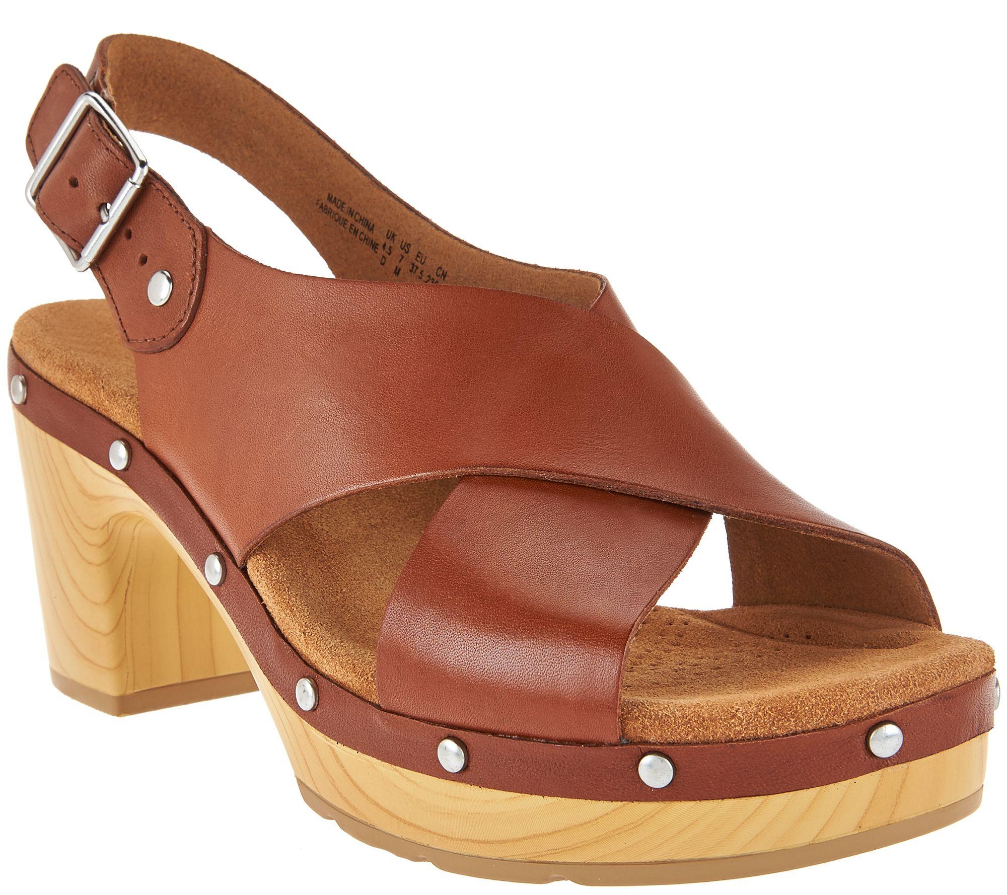 99765740a088fc Clarks Artisan Leather Slingback Sandals - Ledella Club - Page 1 — QVC.com