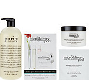 philosophy super-size cleanse, peel & treat skincare trio - A286782