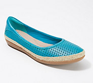 Clarks Perforated Leather Espadrilles - Danelly Adira - A288982