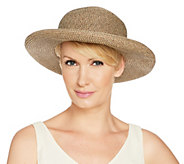 San Diego Hat Co. Paperbraid Roll-Brim Hat with Buckle - A290682