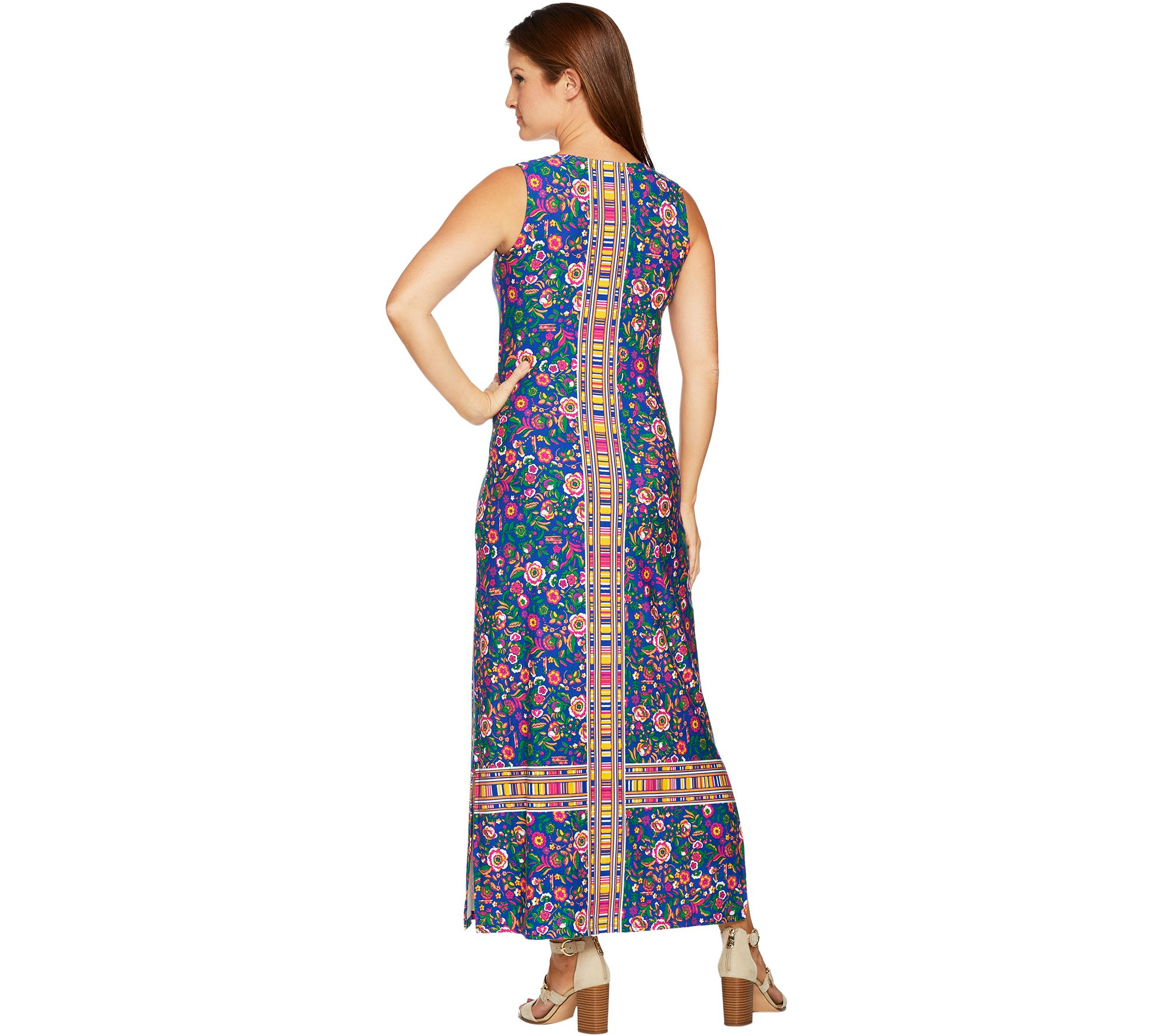 df45ed064de C. Wonder Petite Knit Engineered Floral Print Knit Maxi Dress - Page 1 — QVC .com