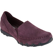 Skechers Relaxed Fit Suede Slip-On Shoes - Alumni - A297182