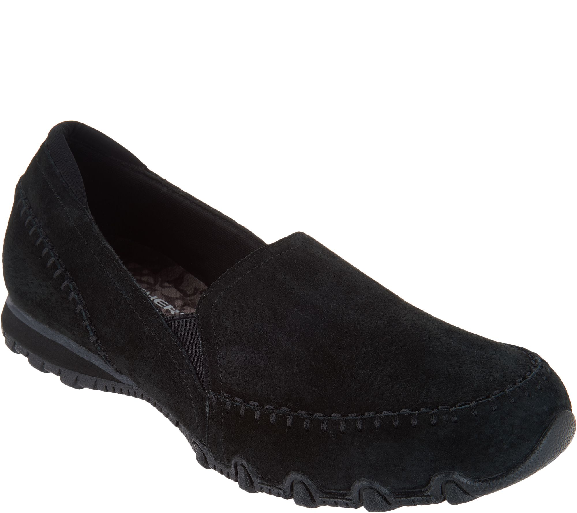 2c76ba894ce16 Skechers Relaxed Fit Suede Slip-On Shoes - Alumni — QVC.com
