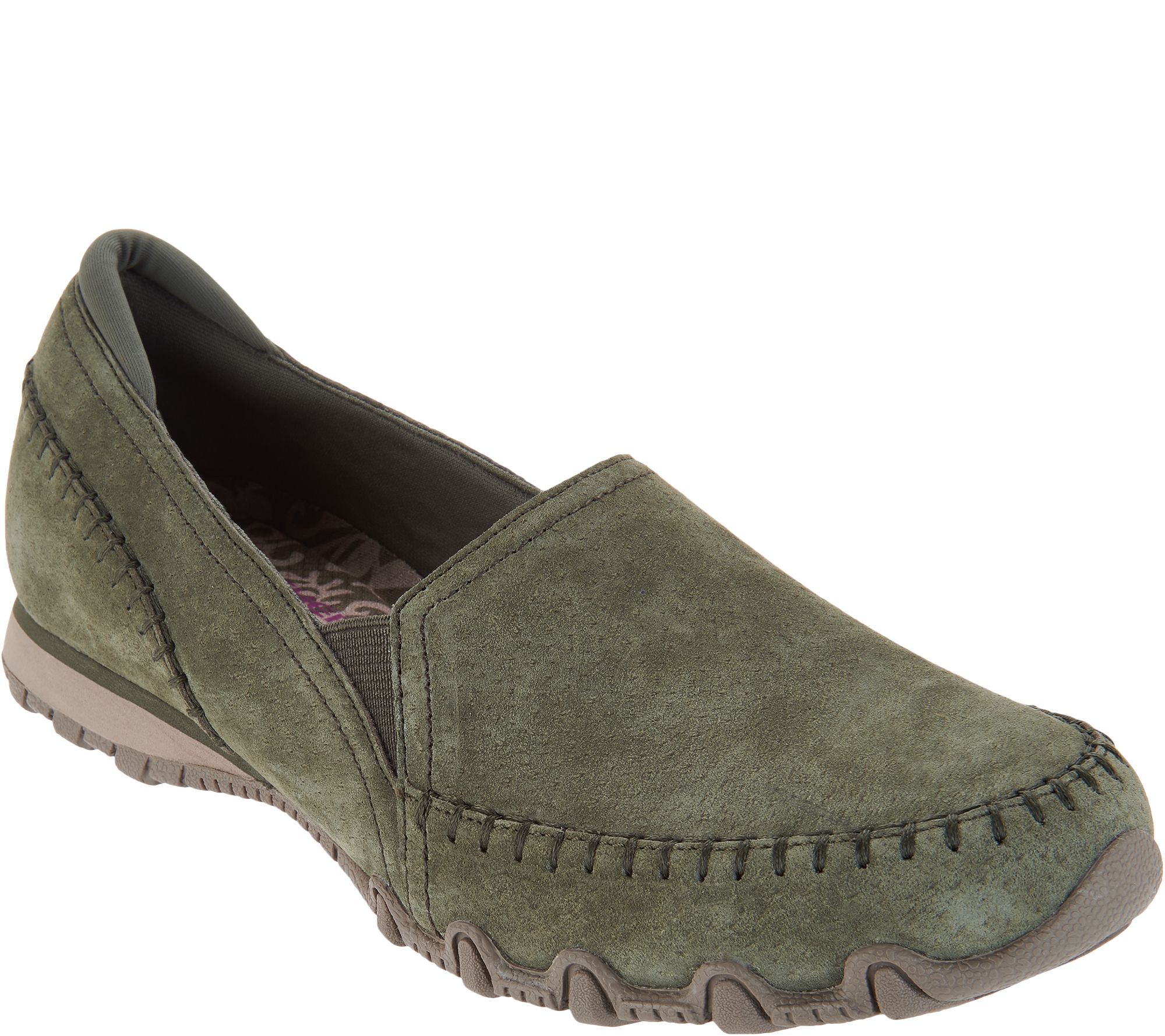 9bc9ef774 Skechers Relaxed Fit Suede Slip-On Shoes - Alumni - Page 1 — QVC.com